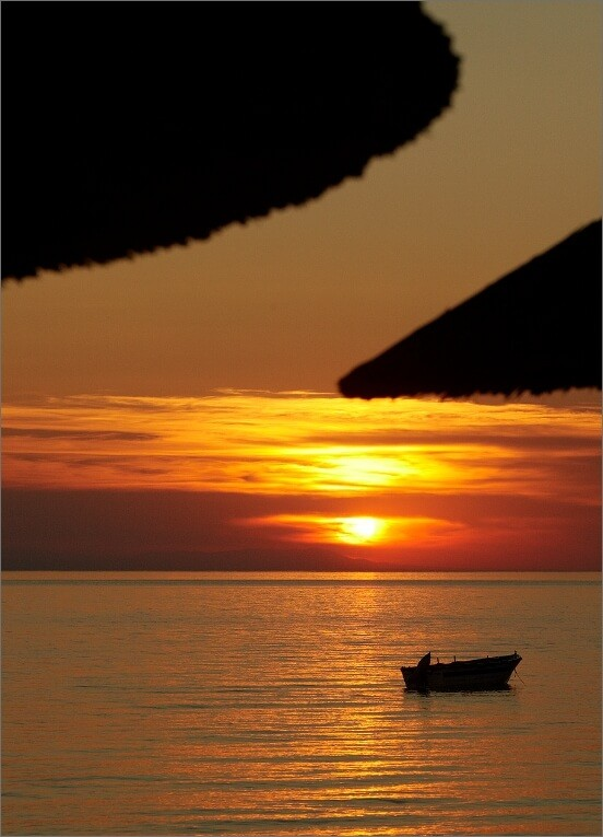A breathtaking sunset view from the rooms of olympion sunset